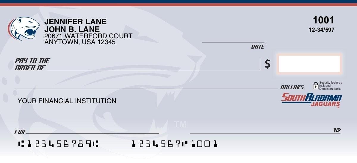 university of south alabama personal checks