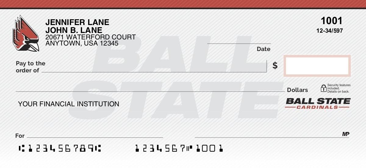 ball state university personal checks