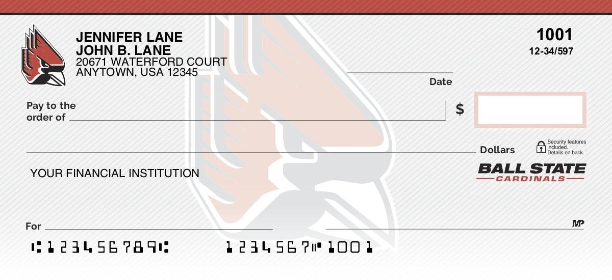 ball state cardinals personal checks
