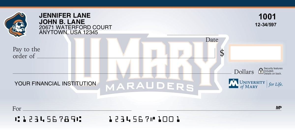 university of mary personal checks