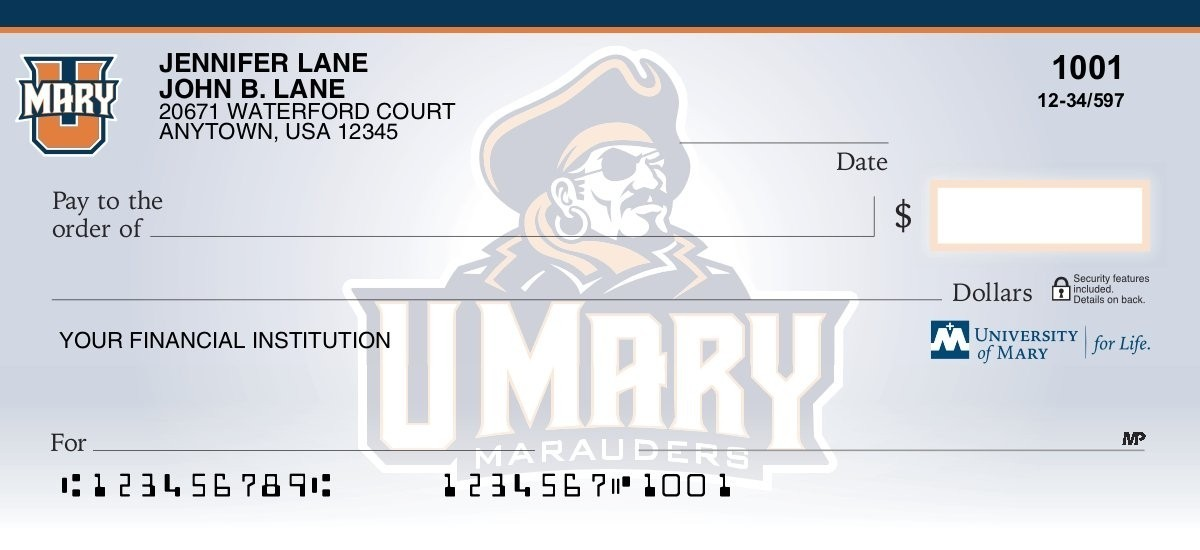 umary marauders personal checks