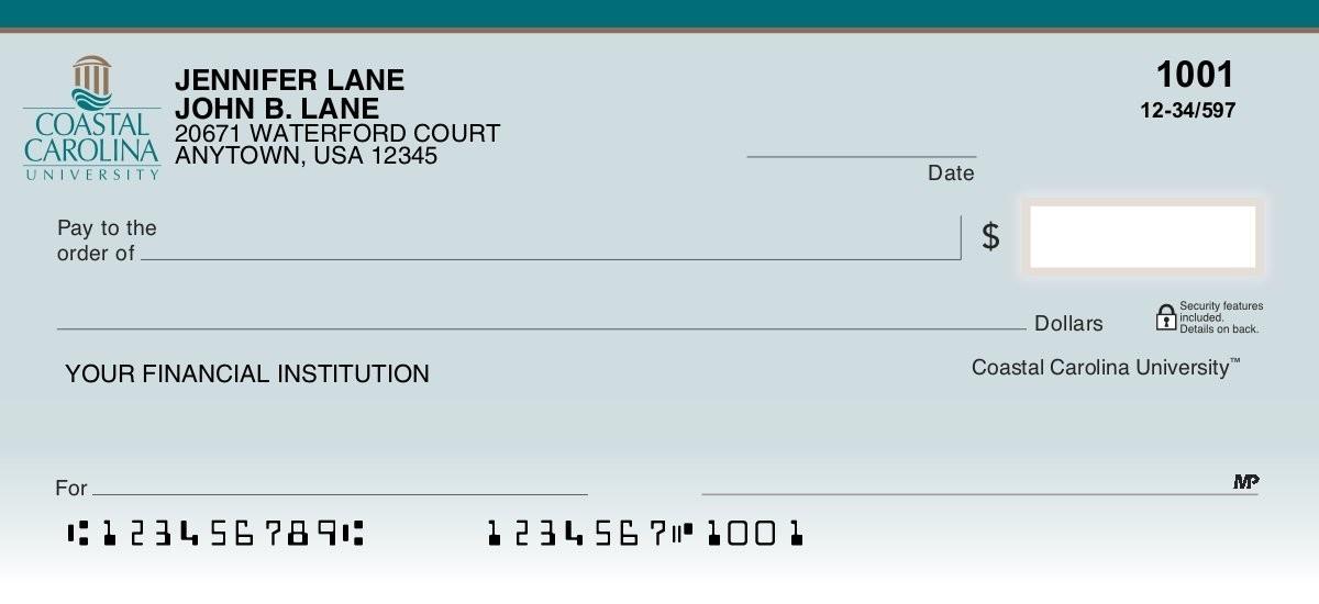 coastal carolina university personal checks