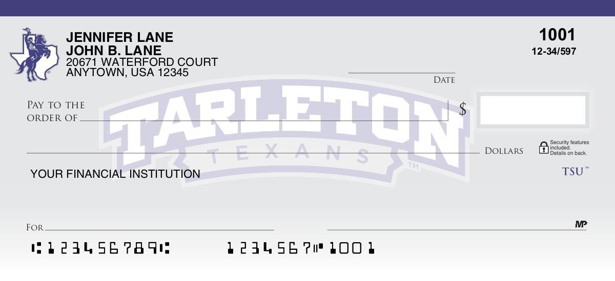 tarleton state texans personal checks