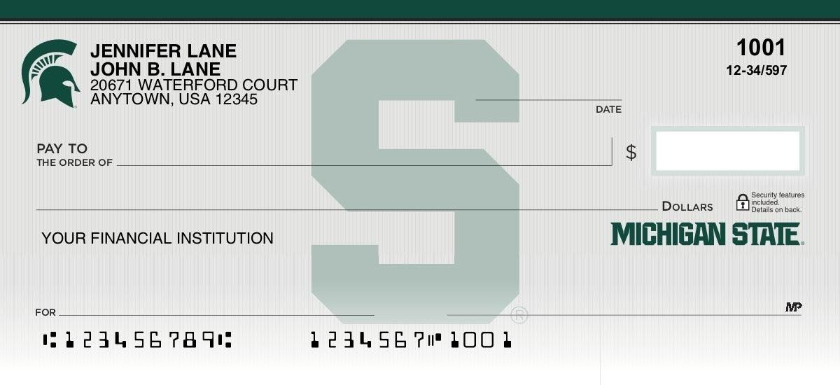 michigan state university personal checks