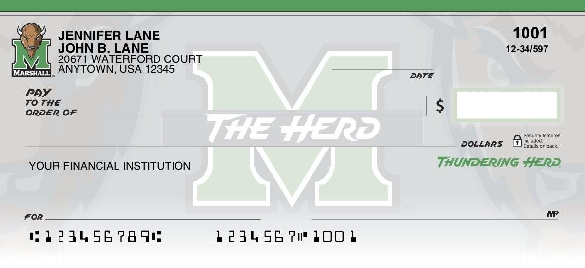 marshall thundering herd personal checks