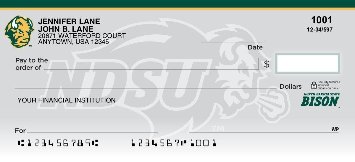 north dakota state university personal checks