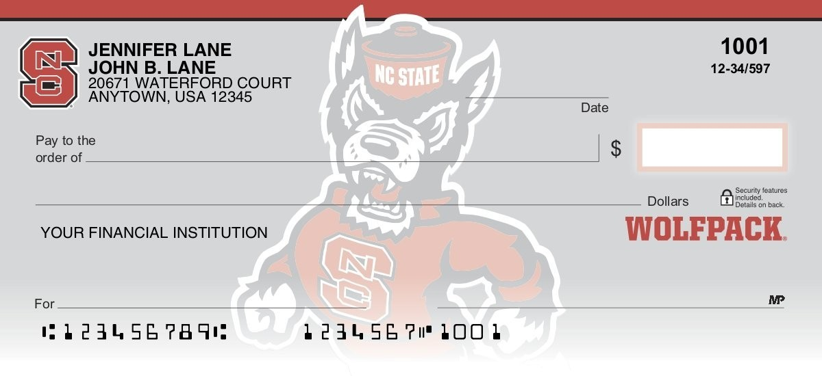 north carolina state university personal checks