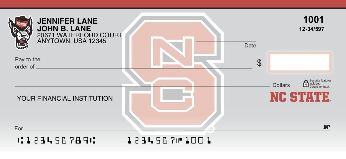 nc state wolfpack personal checks