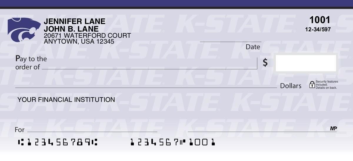 kansas state university personal checks