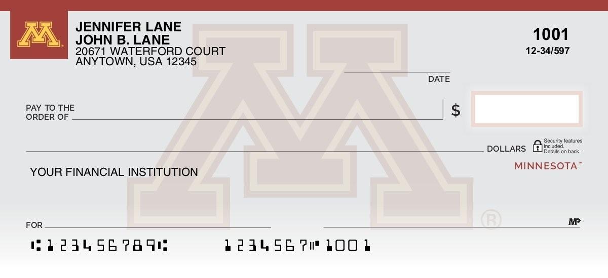 university of minnesota personal checks