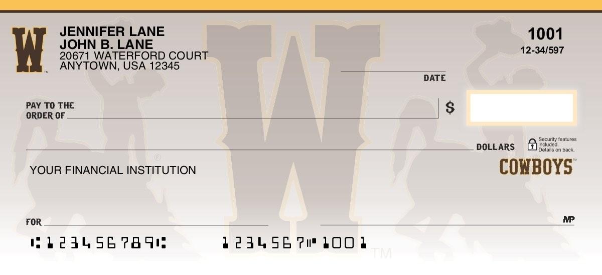 wyoming cowboys personal checks