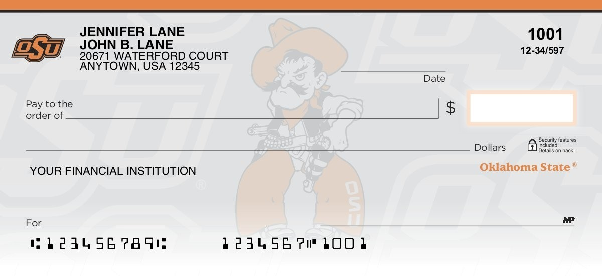oklahoma state cowboys personal checks