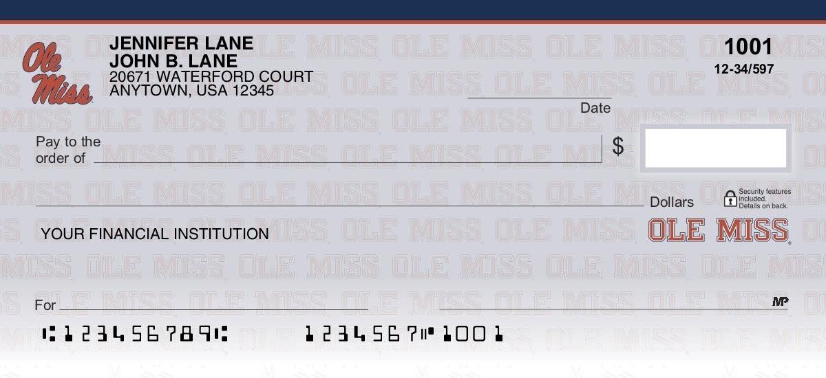 university of mississippi personal checks