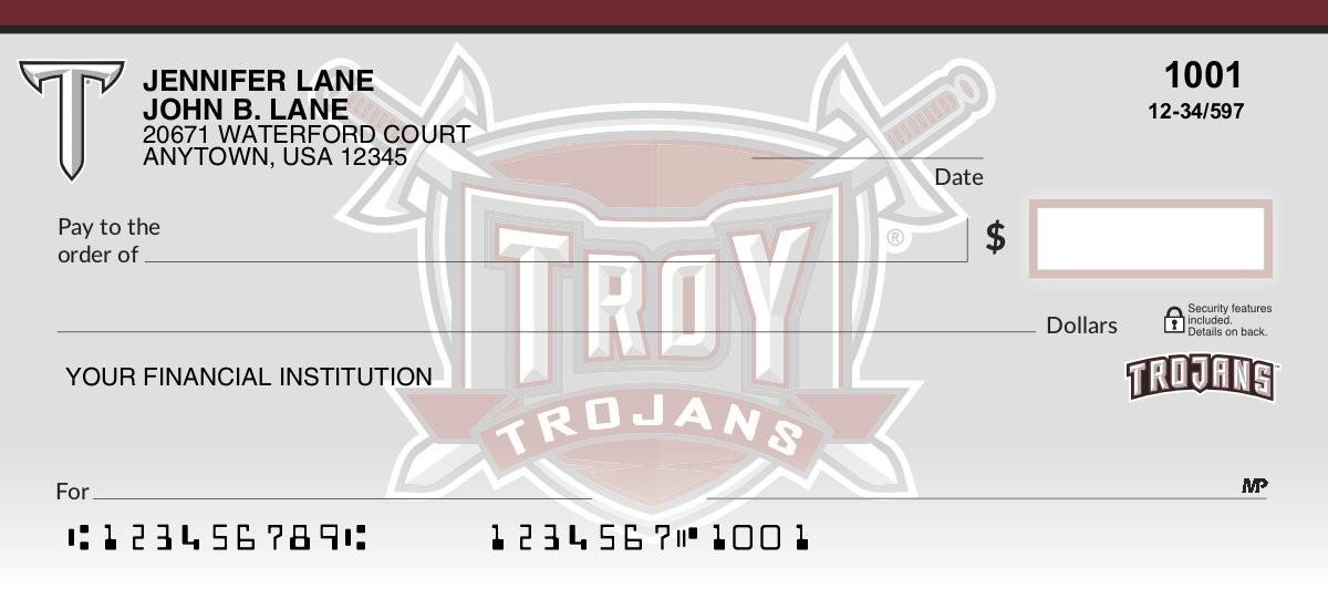 troy university personal checks