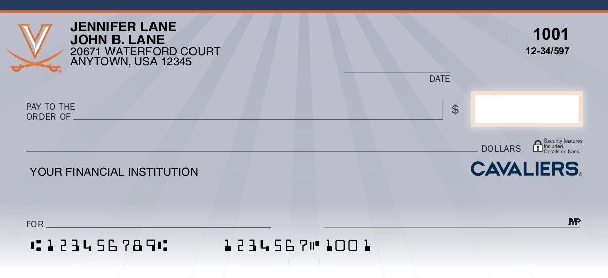 university of virginia personal checks