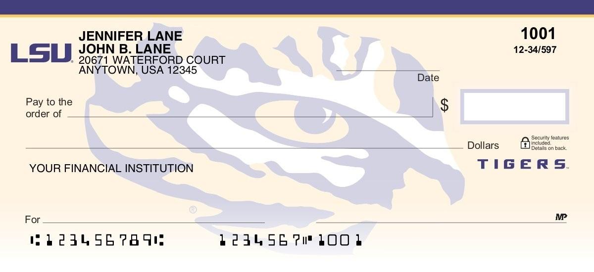 louisiana state university personal checks