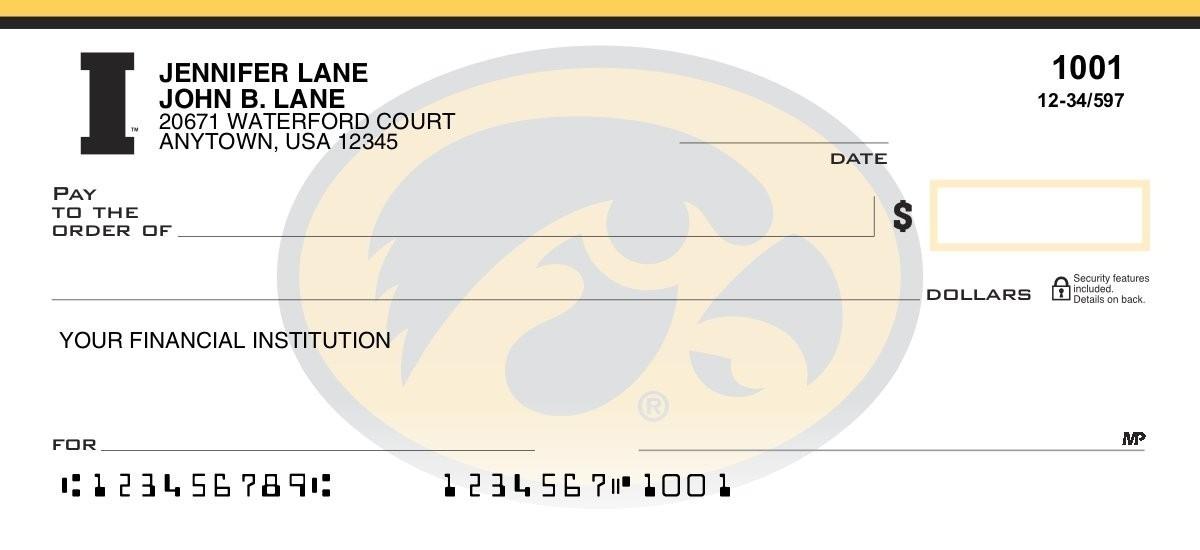 university of iowa personal checks