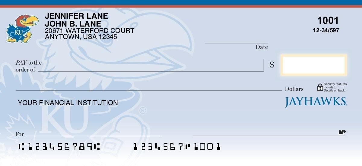 university of kansas personal checks