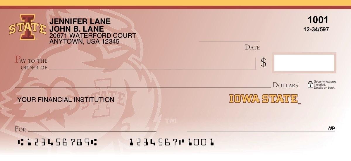 iowa state personal checks