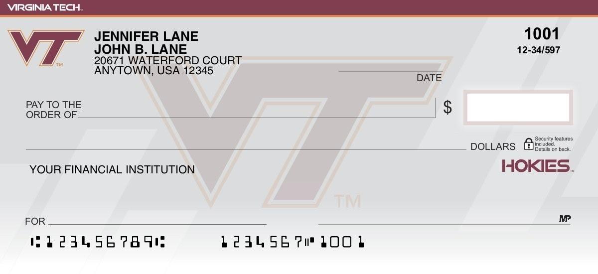 virginia tech personal checks
