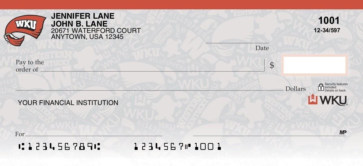 western kentucky university personal checks