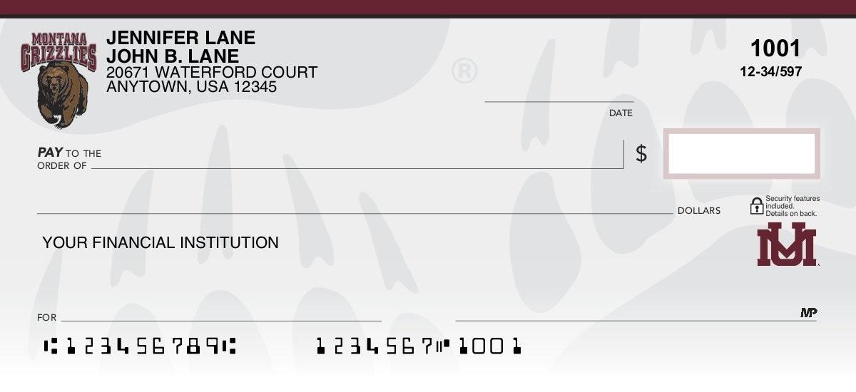 university of montana personal checks