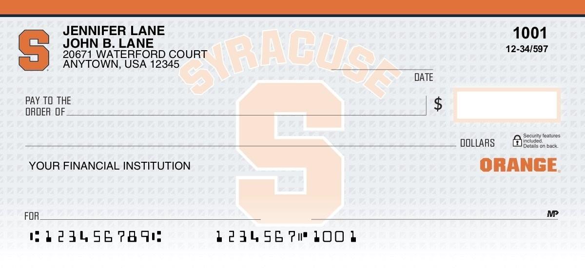 syracuse university personal checks