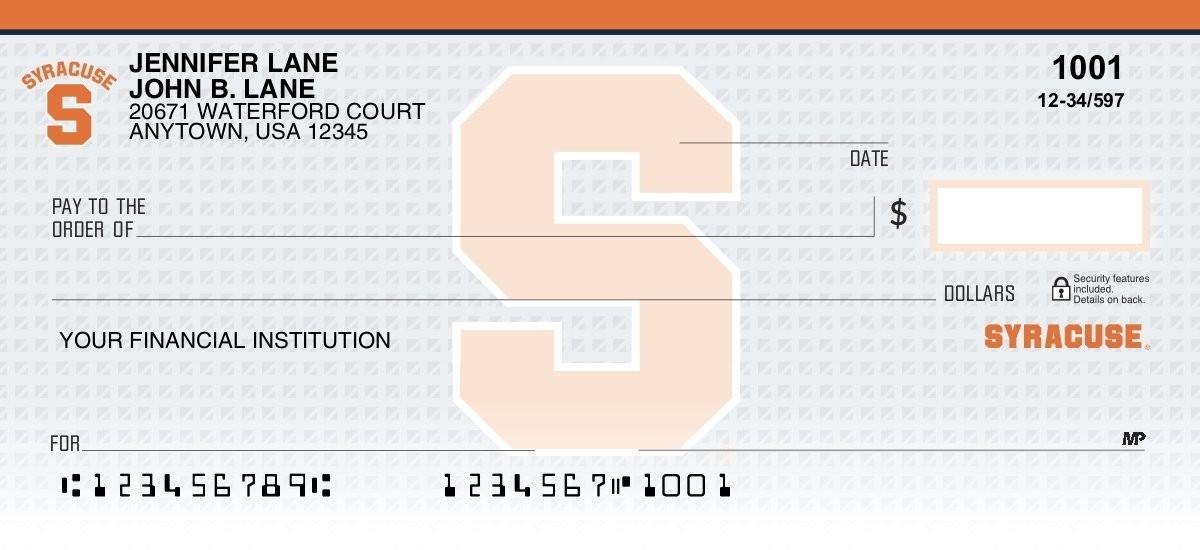 syracuse orange personal checks