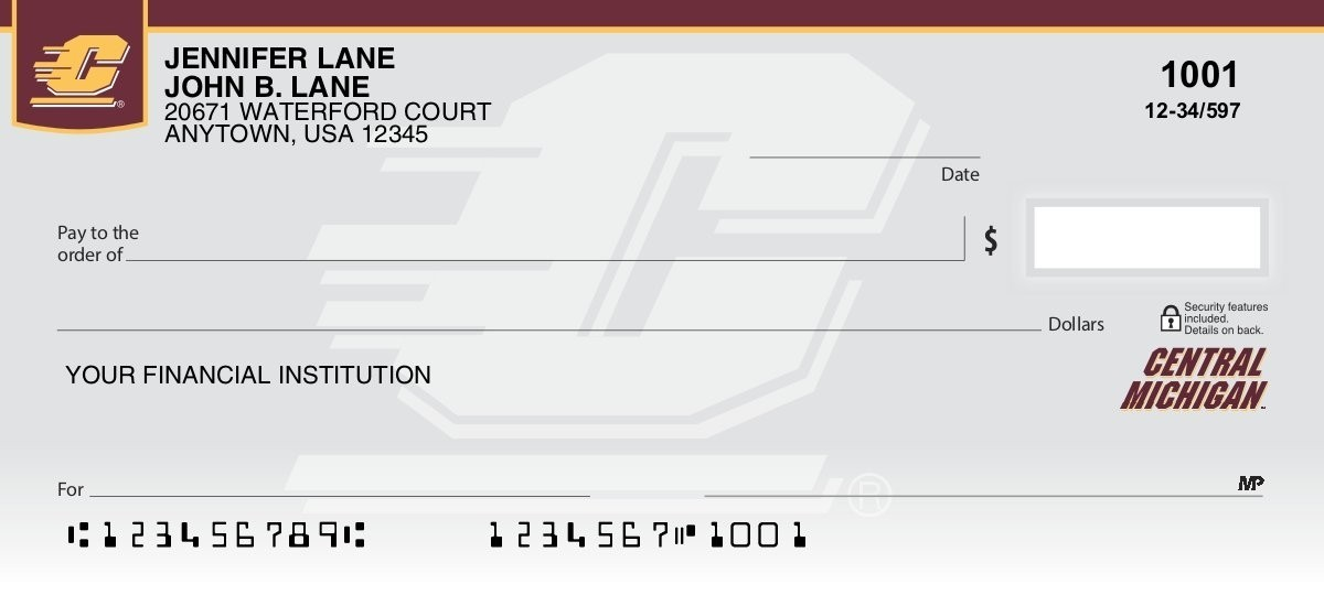 central michigan university personal checks