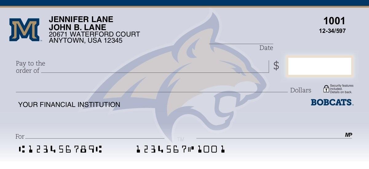 montana state university personal checks
