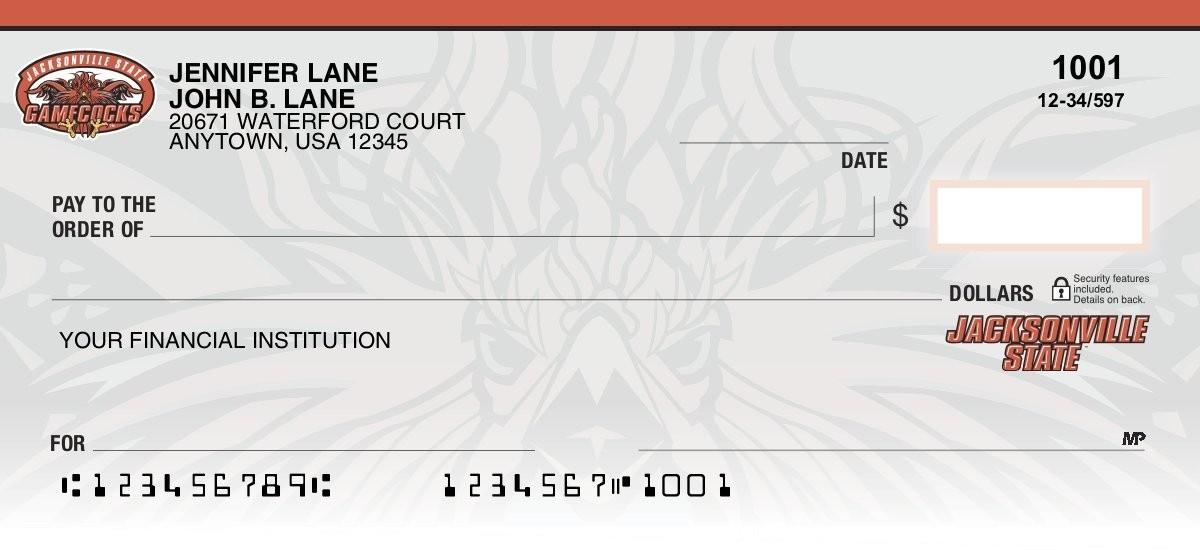 jacksonville state university personal checks