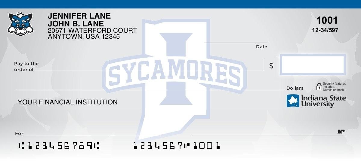 indiana state university personal checks