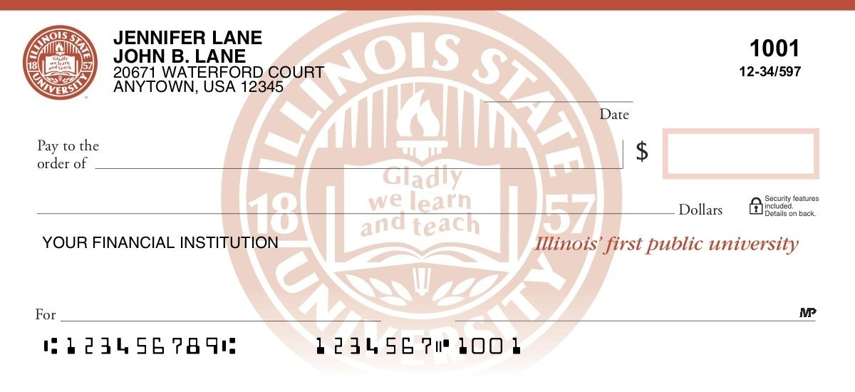 illinois state redbirds personal checks