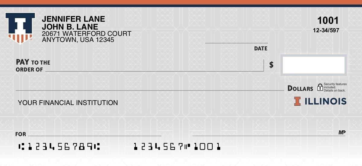 fighting illini personal checks