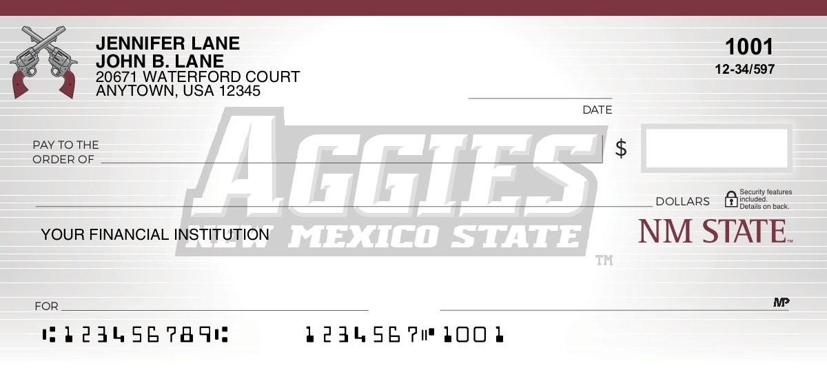 new mexico state aggies checks
