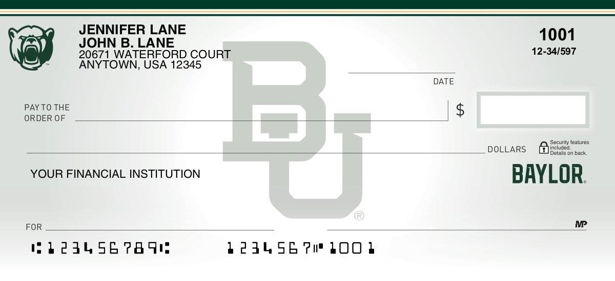 baylor bears personal checks