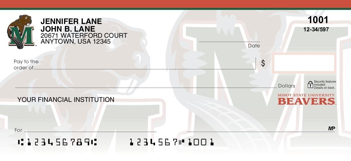 minot state university personal checks
