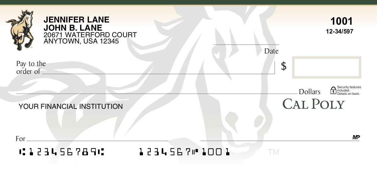 cal poly personal checks