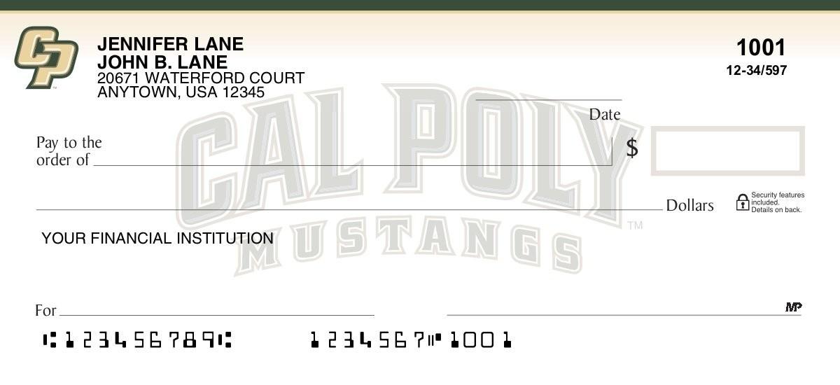 cal poly mustangs checks