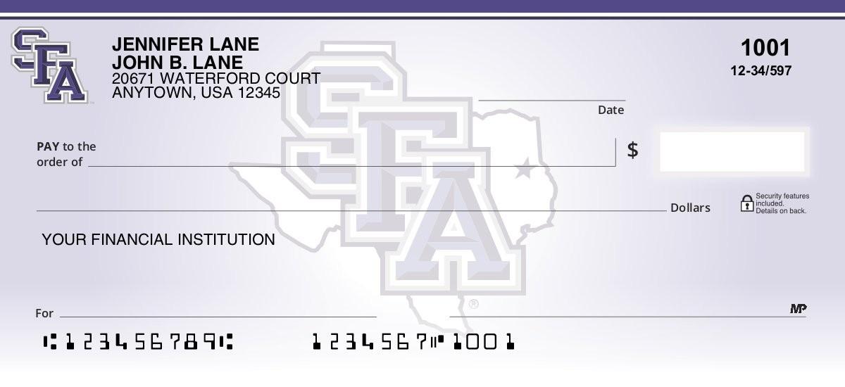 stephen f austin state university personal checks