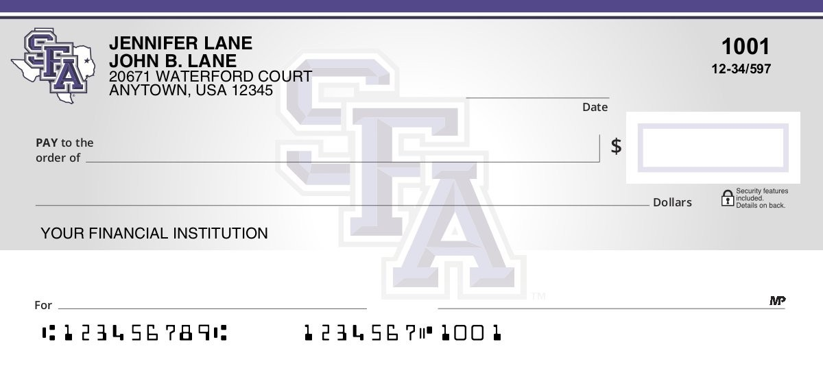 sfa personal checks