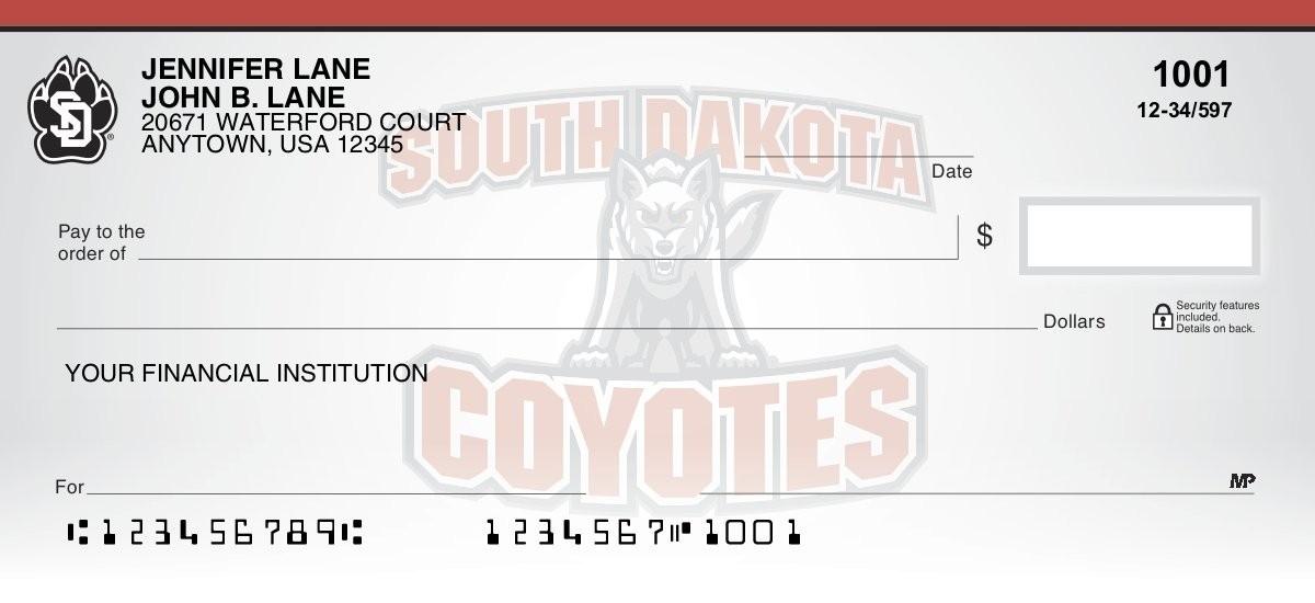 university of south dakota personal checks